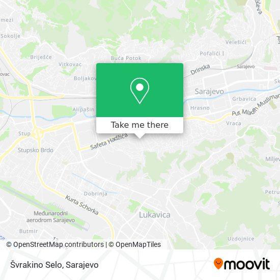 Švrakino Selo map