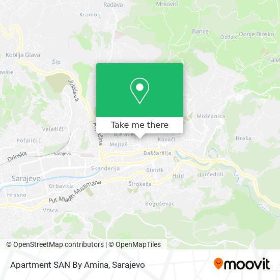Apartment SAN By Amina map