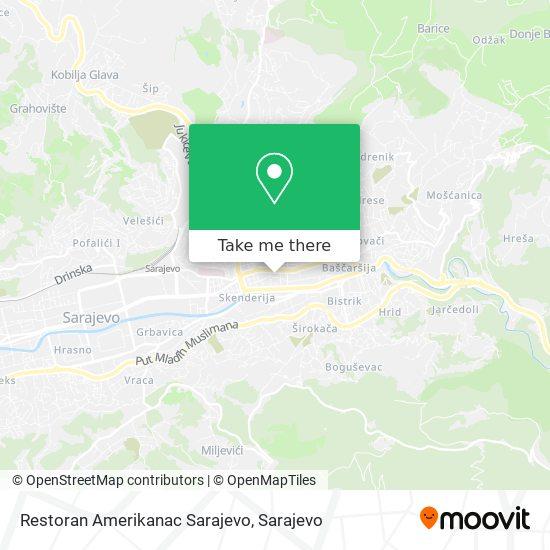 Restoran Amerikanac Sarajevo map