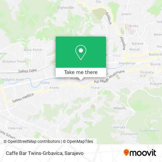 Caffe Bar Twins-Grbavica map
