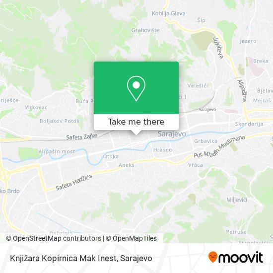 Knjižara Kopirnica Mak Inest map