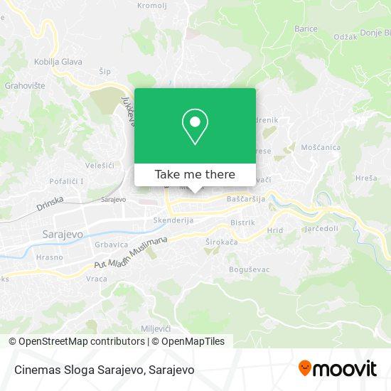 Cinemas Sloga Sarajevo map