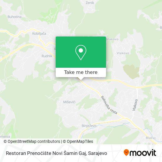 Restoran Prenoćište Novi Šamin Gaj map