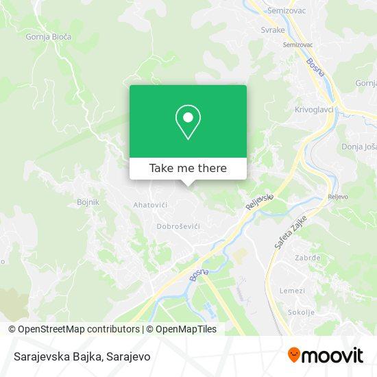 Sarajevska Bajka map