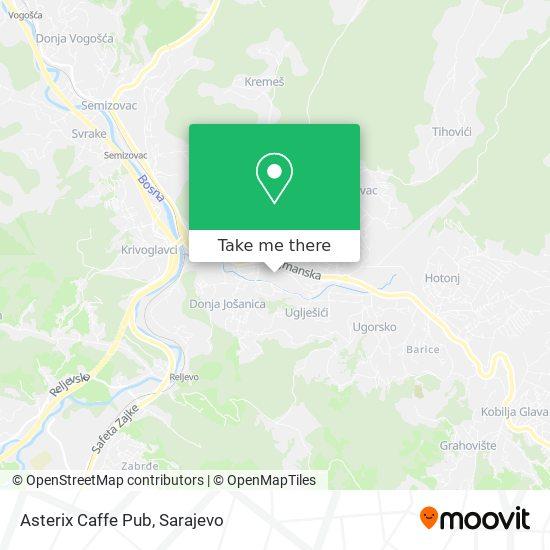 Asterix Caffe Pub map
