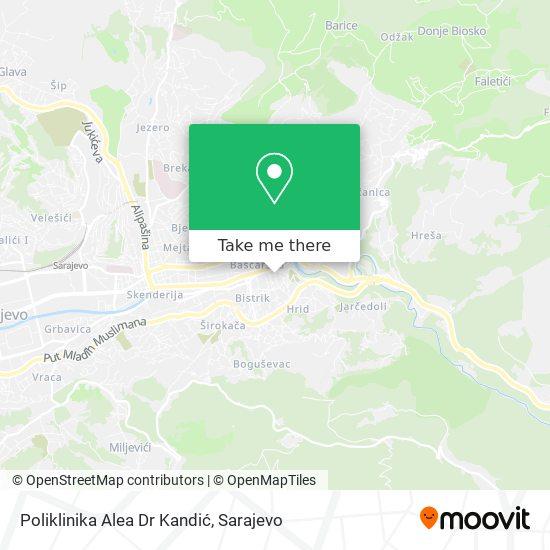 Poliklinika Alea Dr Kandić map