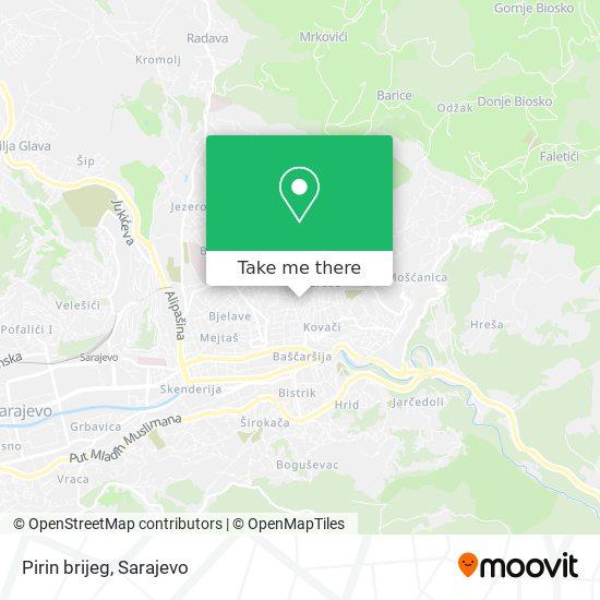 Pirin brijeg map