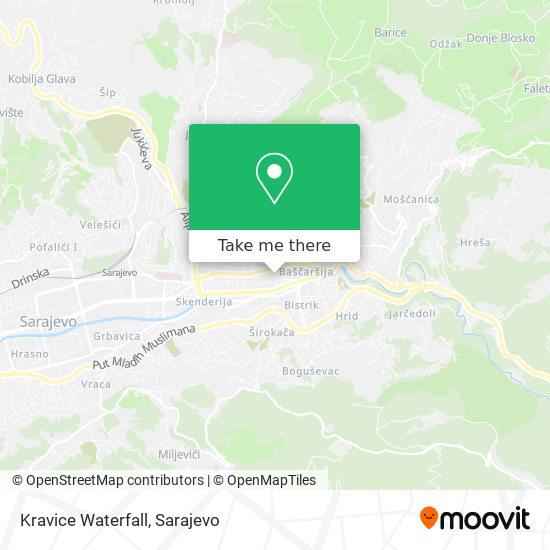 Kravice Waterfall map