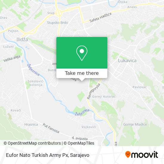 Eufor Nato Turkish Army Px map