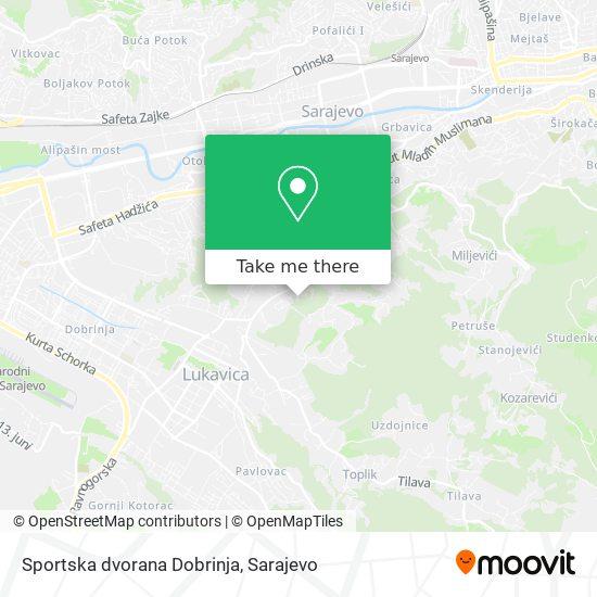 Sportska dvorana Dobrinja map