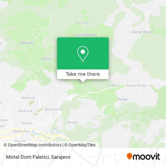 Motel Dom Faletici map