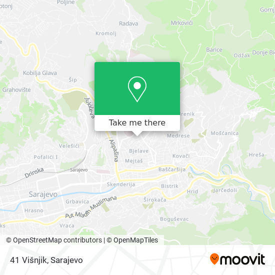 41 Višnjik map