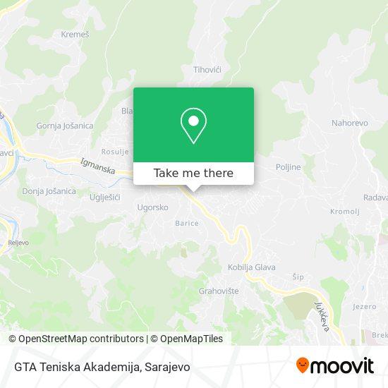 GTA Teniska Akademija map
