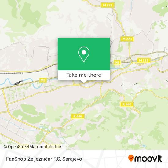 FanShop  Željezničar F.C map