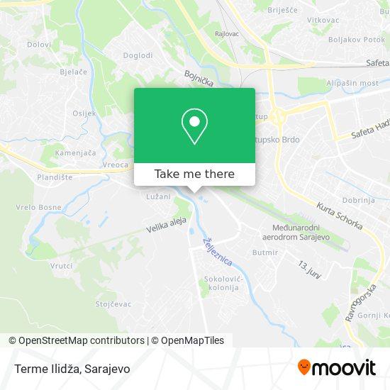 Terme Ilidža map