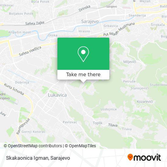 Skakaonica Igman map