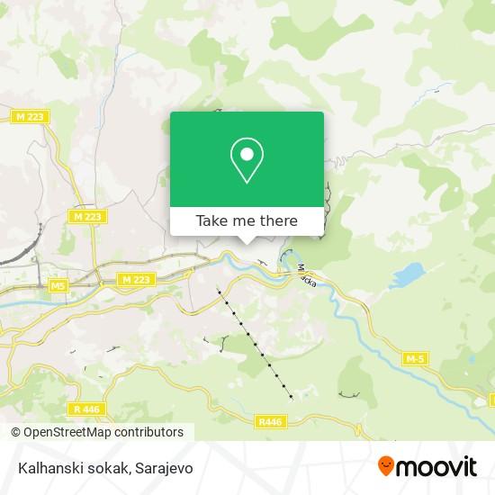 Kalhanski sokak map