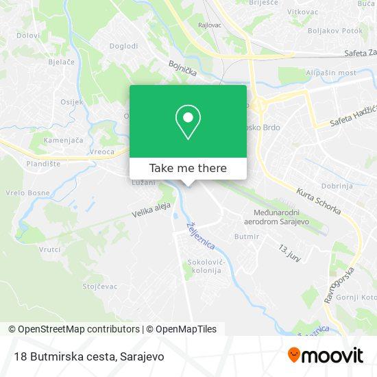 18 Butmirska cesta map