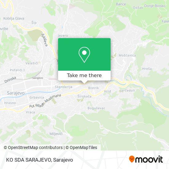 KO SDA SARAJEVO map
