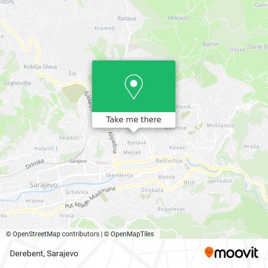 Derebent map