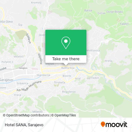Hotel SANA map