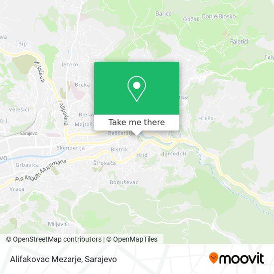 Alifakovac Mezarje map