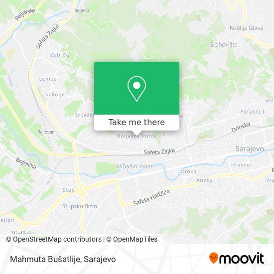 Mahmuta Bušatlije map