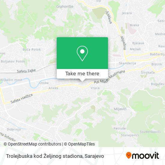 Trolejbuska kod Željinog stadiona map