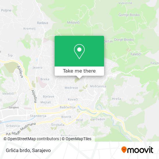 Grlića brdo map