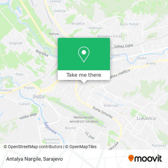 Antalya Nargile map