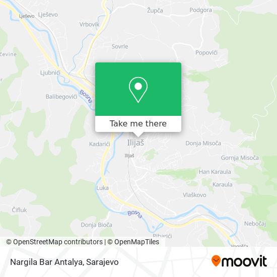 Nargila Bar Antalya map