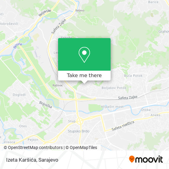 Izeta Karšića map
