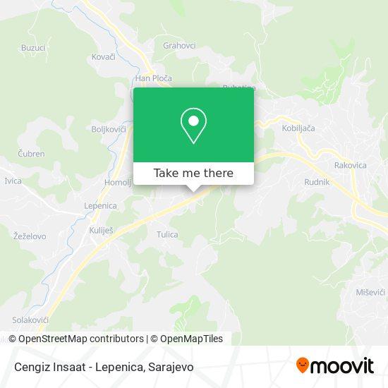 Cengiz Insaat - Lepenica map