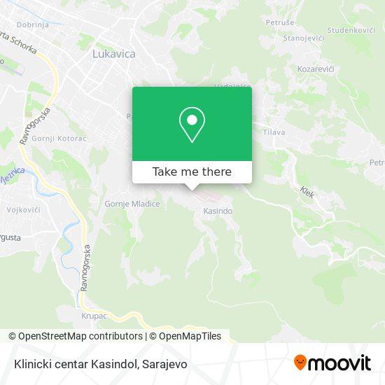 Klinicki centar Kasindol map