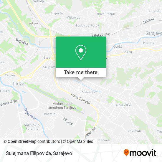 Sulejmana Filipovića map
