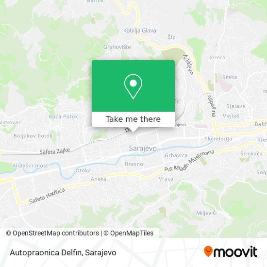 Autopraonica Delfin map