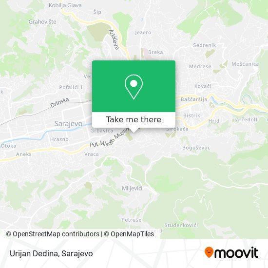 Urijan Dedina map