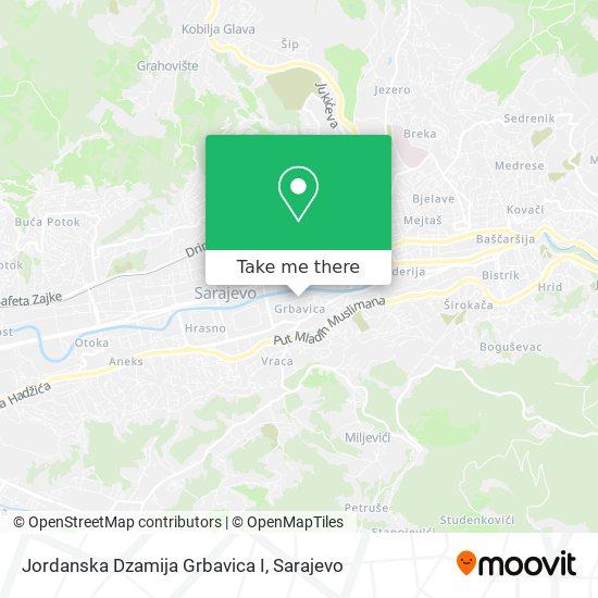 Jordanska Dzamija Grbavica I map