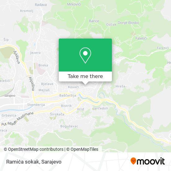 Ramića sokak map