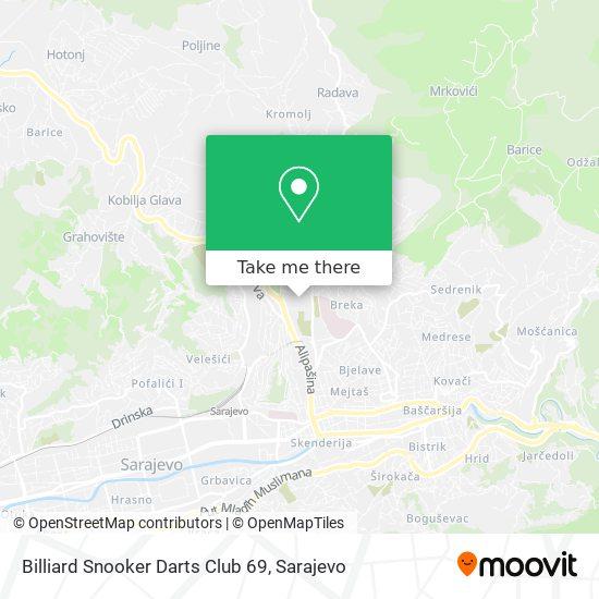 Billiard Snooker Darts Club 69 map