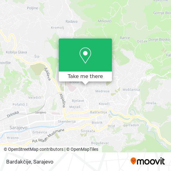 Bardakčije map