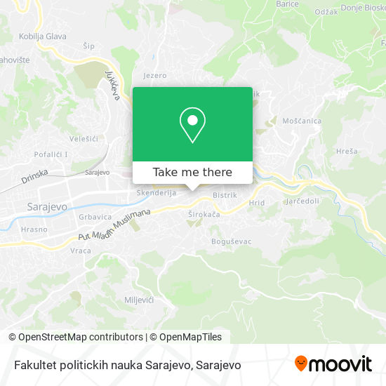 Fakultet politickih nauka Sarajevo map