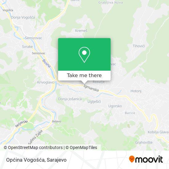 Općina Vogošća map