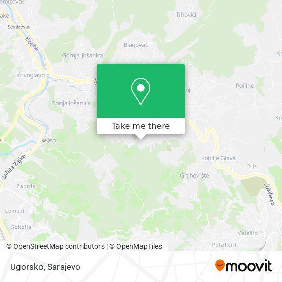Ugorsko map