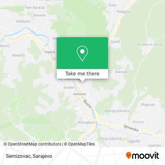 Semizovac map