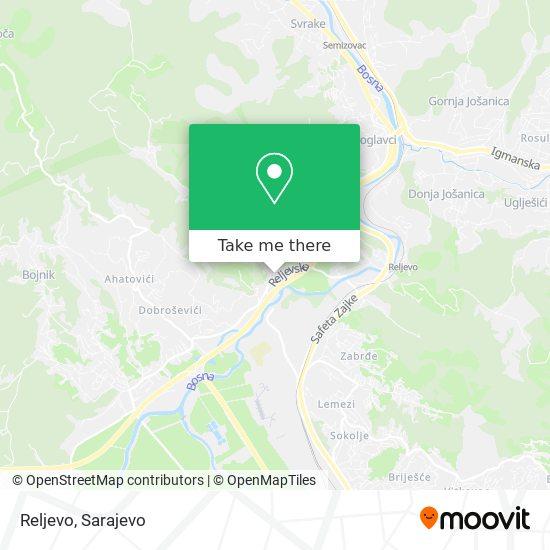 Reljevo map