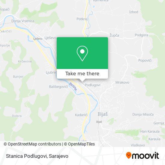 Stanica Podlugovi map