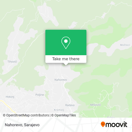Nahorevo map