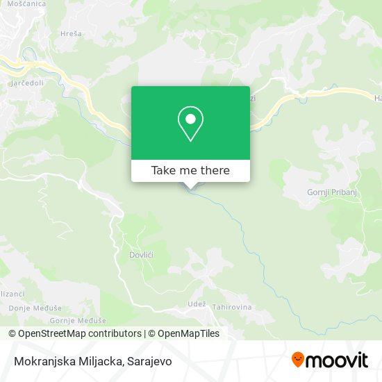 Mokranjska Miljacka map