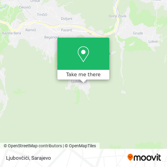 Ljubovčići map